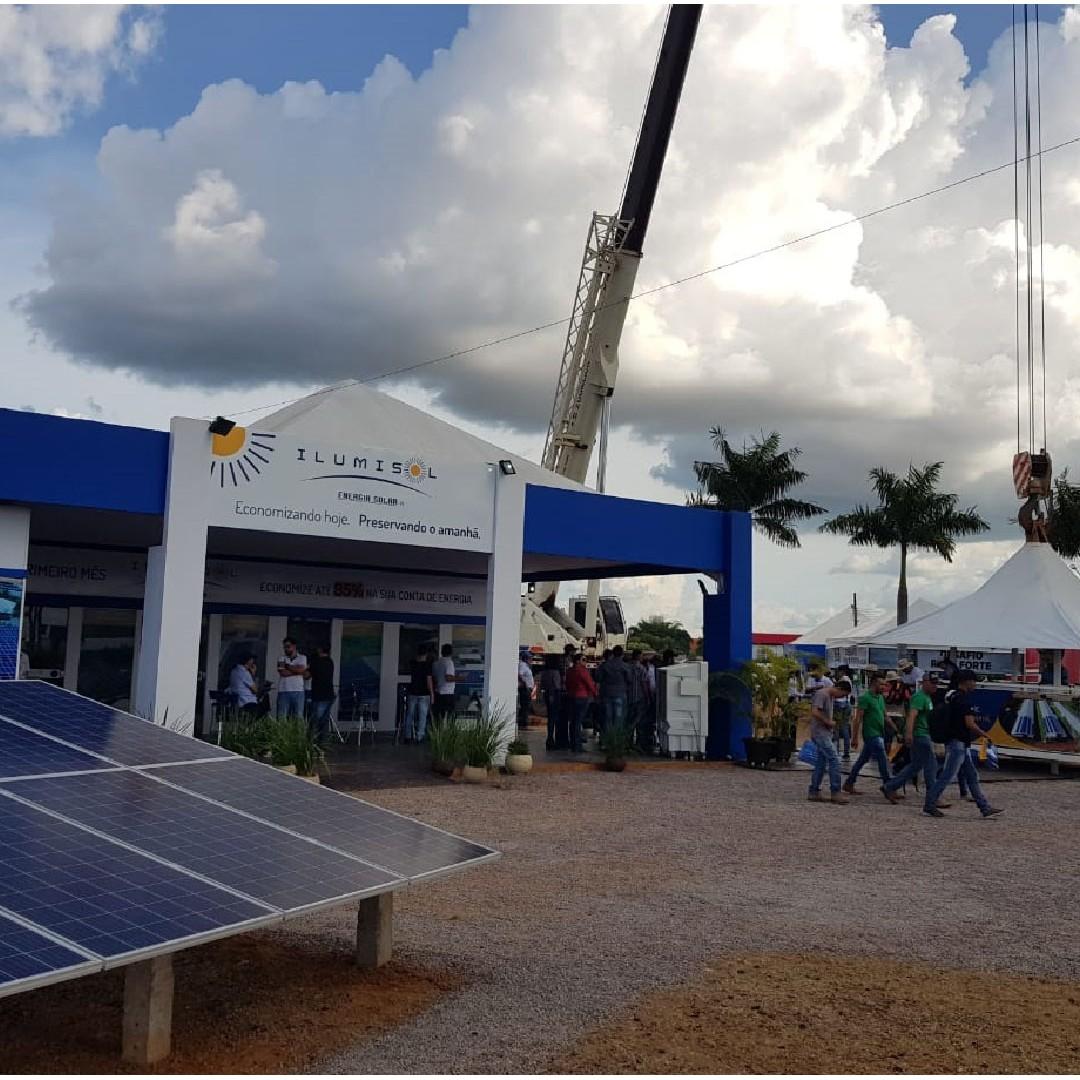 Ilumisol Energia Solar atrai visitantes na feira Norte Show 2019