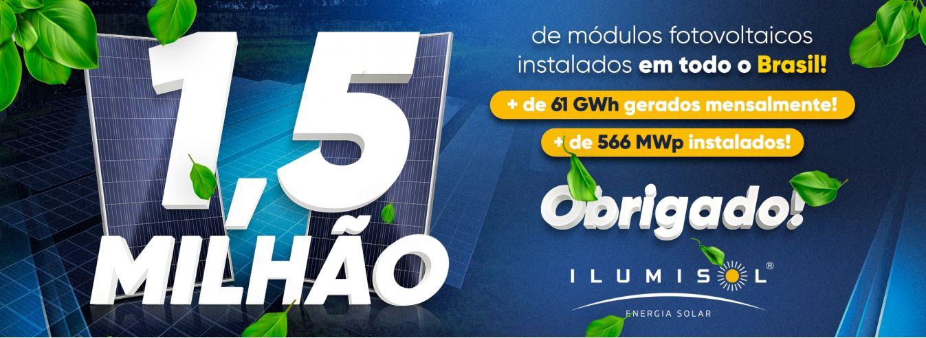 1,5 milhão de módulos instalados no Brasil!