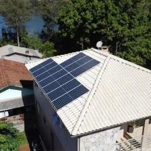 ENERGIA SOLAR RESIDENCIAL 4,10 KWP 10 MÓDULOS ITAPIRANGA SC