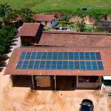 ENERGIA SOLAR RURAL 10,95 KWP 30 MÓDULOS RIO FORTUNA SC