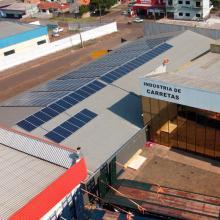 ENERGIA SOLAR COMERCIAL 54,27 KWP 162 MÓDULOS CASCAVEL PARANÁ