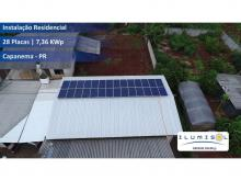 Energia Solar Residencial 7,36 kWp 28 módulos Capanema Paraná