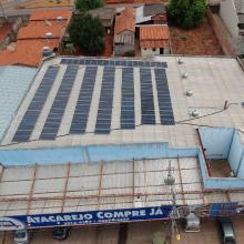 Energia Solar Comercial 49 kWp 140 módulos Nerópolis Goiás